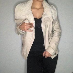 GUESS faux leather jacket with fur lining